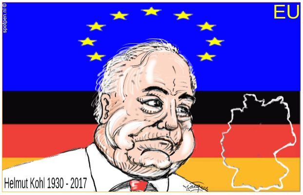 Helmut Kohl cartoon