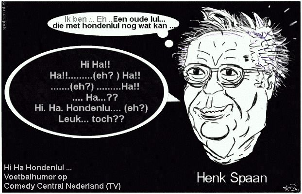 cartoon  Hi Ha Hondenlul Henk Spaan