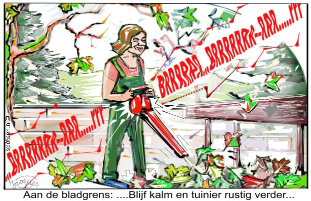 bladgrens cartoon bladeren