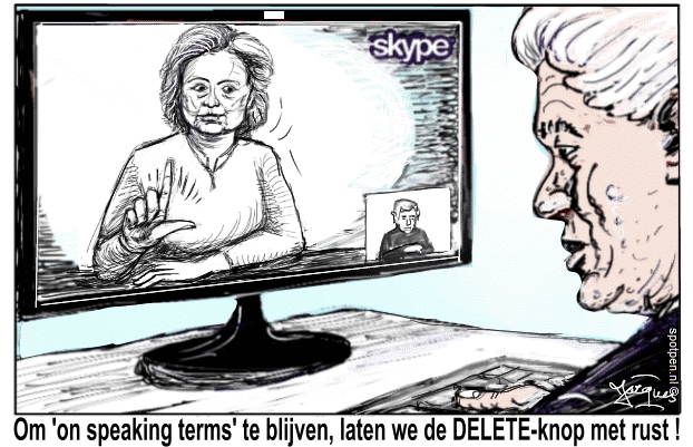 Hillary cartoon Clinton