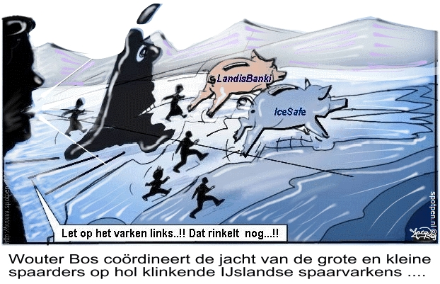 Icesafe bank bankroet cartoon