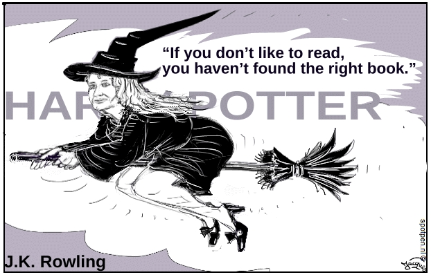 heks cartoon J.K. Rowling Harry Potter