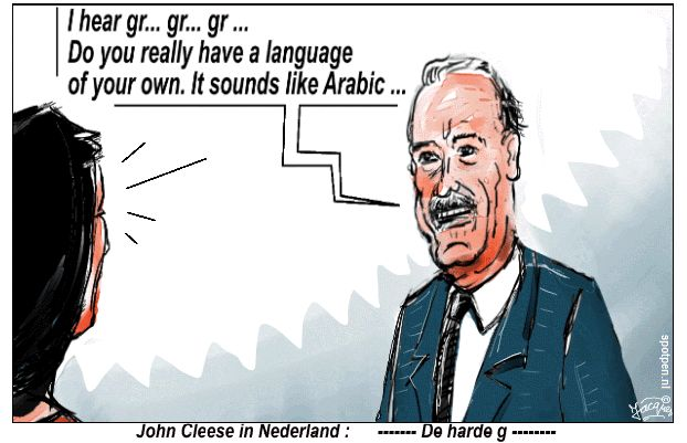 cartoon John Cleese harde g