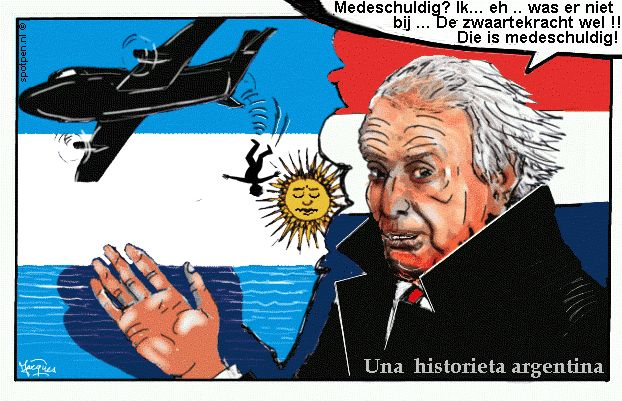 Jorge Zorreguieta cartoon  Argentinië