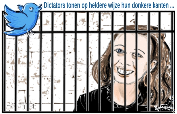 journalist cartoon vrije woord pers