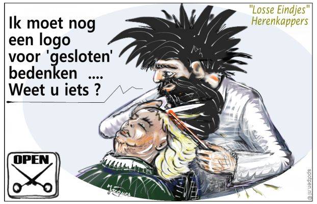 kapper cartoon kapsel