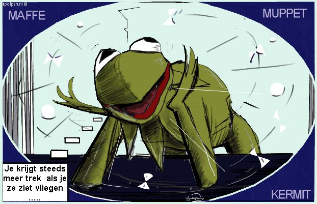 cartoon  Kikker Kermit de Muppets