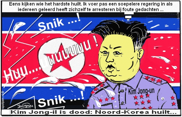 cartoon Noord-Korea Kim Jung-un