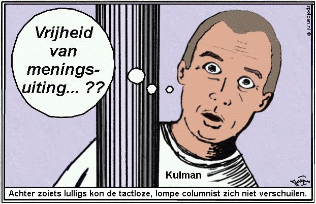 Cartoon  koelman - vrijheid van  meningsuiting - sociale media