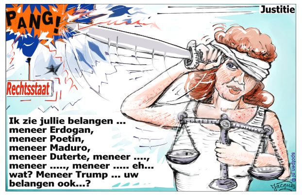 wisselende cartoon, spotprent of illustratie