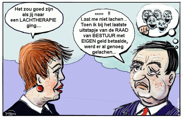 Cartoon - lachen therapie  lachcursus lachtherapie