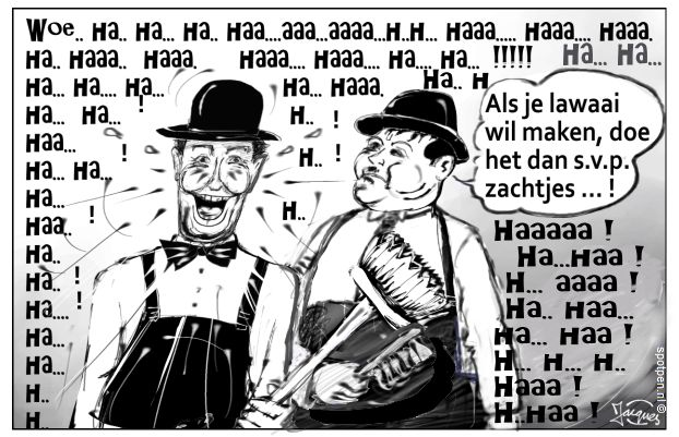 Stan Laurel Oliver Hardy cartoon lachfilms