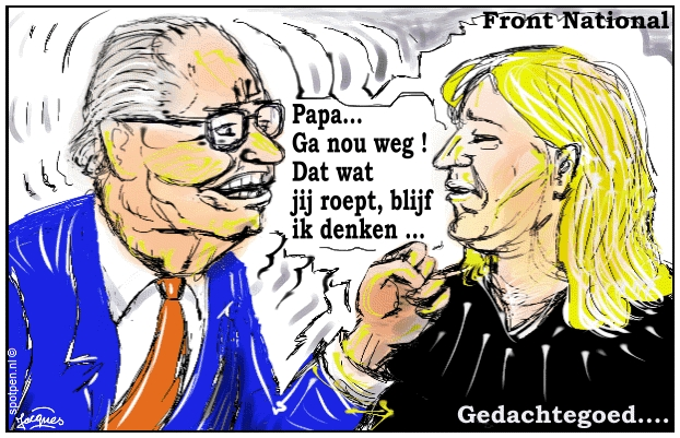Le Pen Front National cartoon Frankrijk