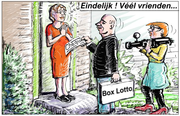 Loterij winnaar lotto  cartoon