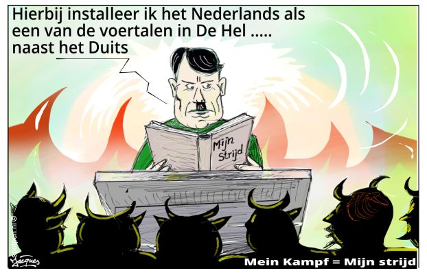 Mein Kampf Mijn strijd cartoon