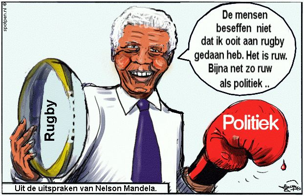 cartoon Nelson Mandela