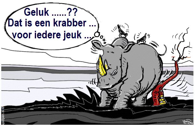 jeuk neushoorn cartoon