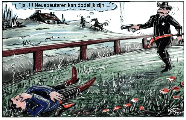 Cartoon wilde westen schieten cowboys neuspeuteren
