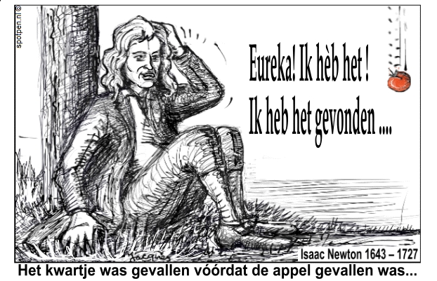 newton appel  cartoon