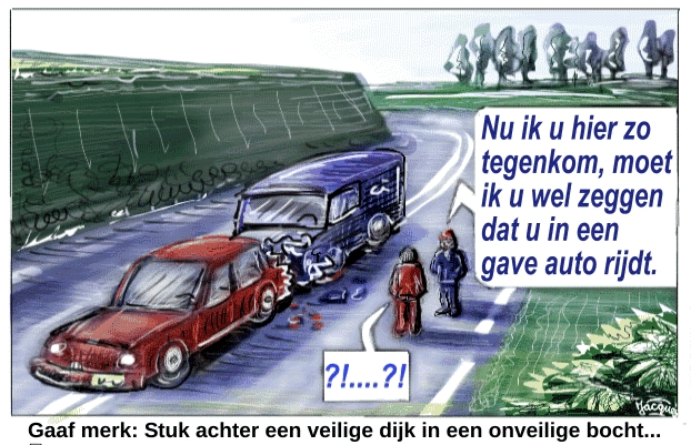 Auto botsing cartoon