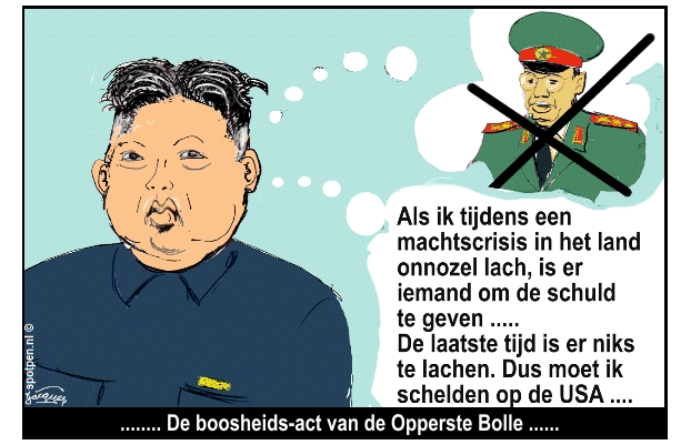 cartoon  Kim Jong-un Noord-Korea