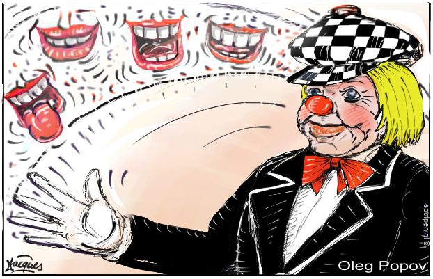 Clown Oleg Popev cartoon