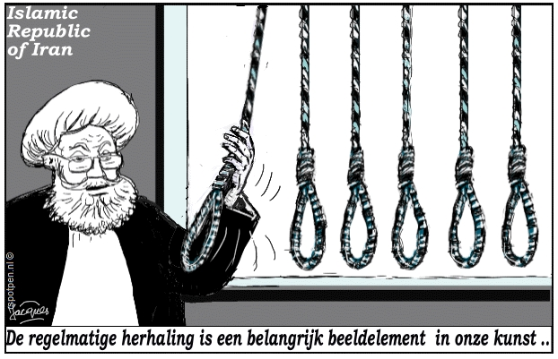 Doodstraf  cartoon ophanging  strop executie