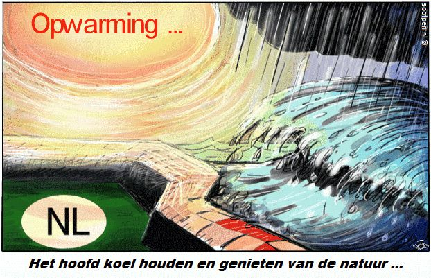 Cartoon  opwarming aarde global warming