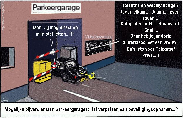 cartoon Parkeergarage Video Beveiligingsopnamen
