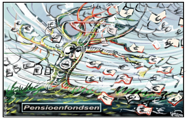 Pensioenfondsen cartoon
