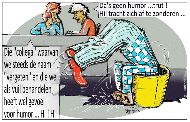 Pesten op werk  cartoon