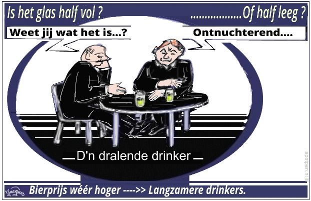 Bier drinkers cartoon