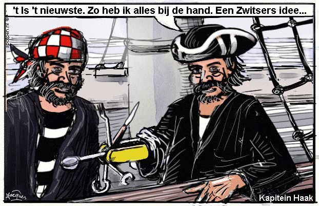 Cartoon  piraten  zeerovers kapers boekaniers