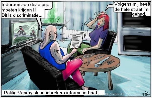 helers dieven inbrekers cartoon brief