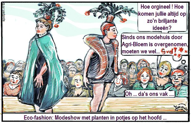 mode modeshow cartoon  catwalk modellen