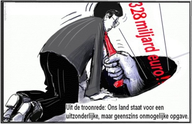 Prinsjesdag cartoon begroting staatschulden