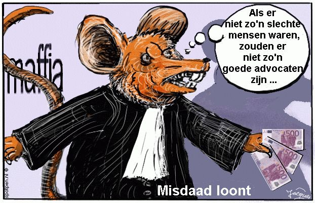 cartoon advocaat maffia  syndicaat gangsters