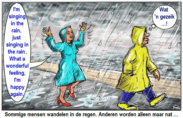 regen cartoon  I'm singing in the rain