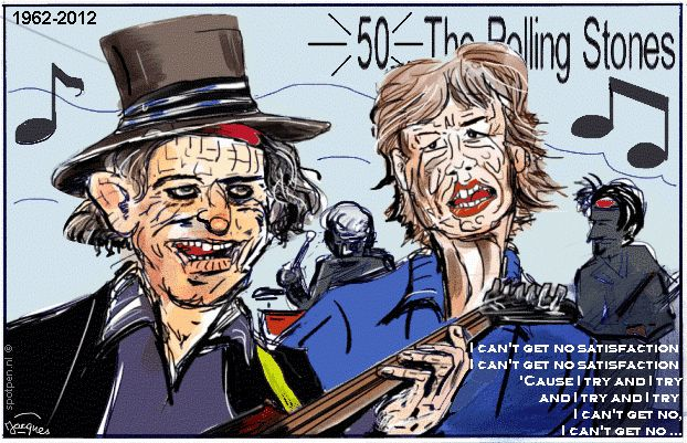 stones 50 jaar Rolling Stones 50 jaar | cartoon | Mick Jagger Keith Richards  stones 50 jaar