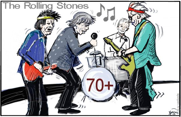 The Rolling Stones cartoon