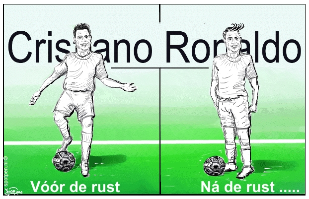 Voetbal cartoon  Cristiano Ronaldo