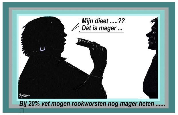 cartoon worst dieet rookworst