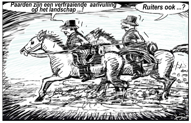 paarden ruiters paardensport  cartoon
