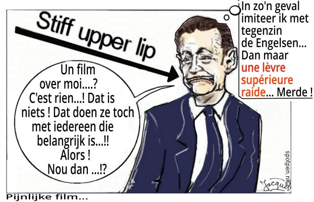 Cartoon stiff upper lip
