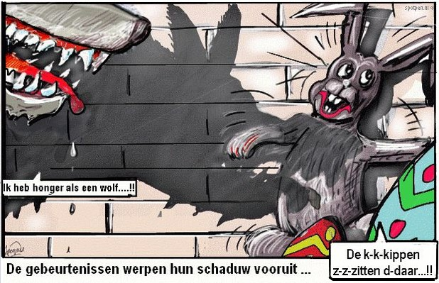 wolf cartoon paashaas wolven