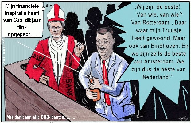 van Gaal cartoon voetbal trainer  2009 AZ
