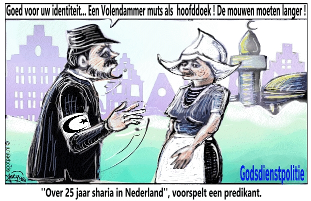 Sharia in Nederland moslims islam cartoon