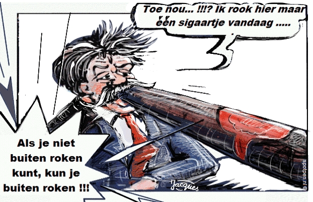 Cartoon roken sigaar rookgenot tabak