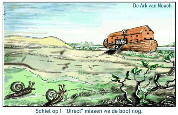 ark van Noach cartoon slakken