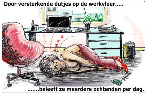 slapen cartoon power nap dutje